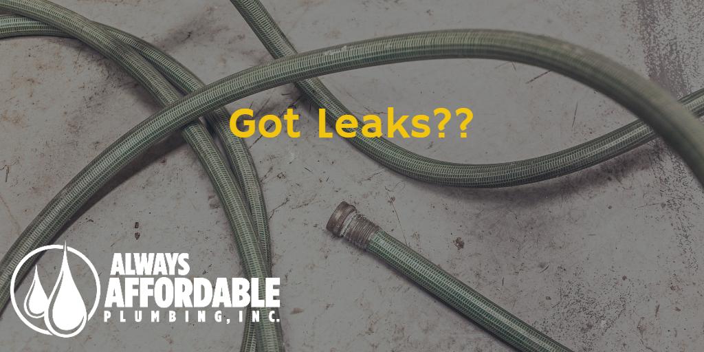 hose leaks-plumbing leaks-affordable plumbing sacramento