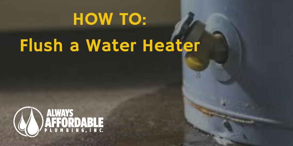 how to flush a water heater-best plumber sacramento