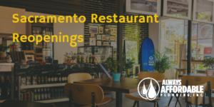 sacramento restaurant phase 2 reopenings-always affordable plumbing
