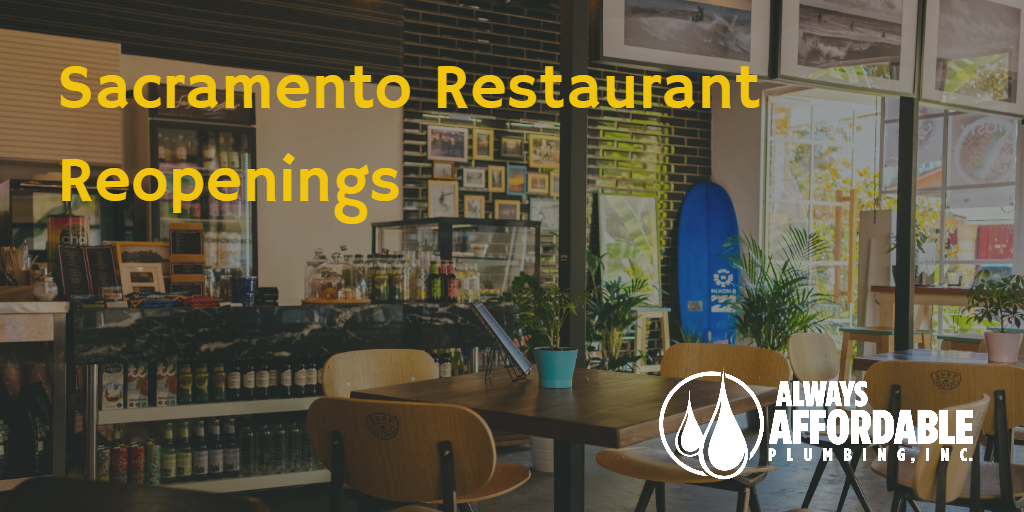 sacramento restaurant phase 2 reopenings-always affordable plumbing