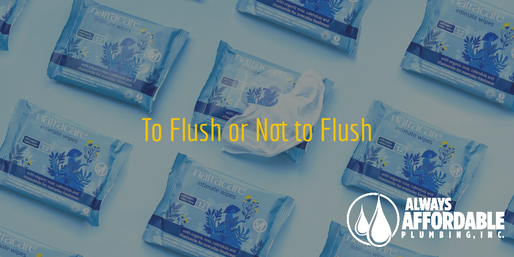 drain cleaning service-flushable wipes-always affordable plumbing
